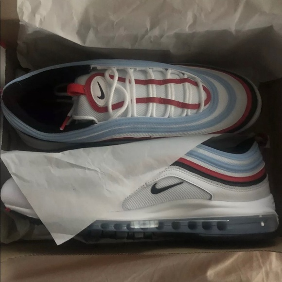 Nike Shoes Air Max 97 White University Red Psychic Blue Poshmark